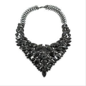 Fashion black crystal necklace